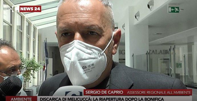 Riapertura discarica Melicuccà, de Caprio: «Prima bonifica. Al momento ha potenziale inquinante»