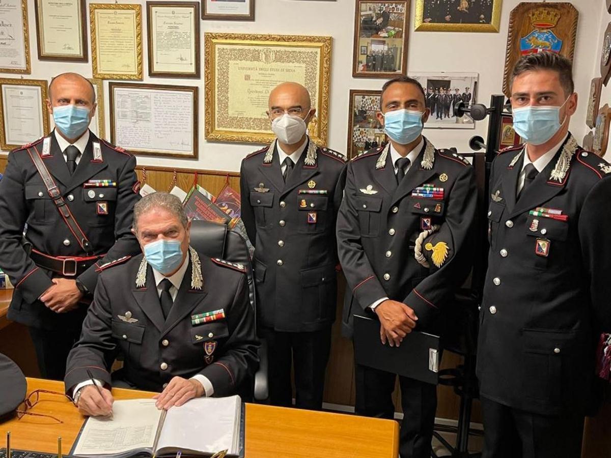Palmi, il comandante interregionale in visita alla compagnia carabinieri