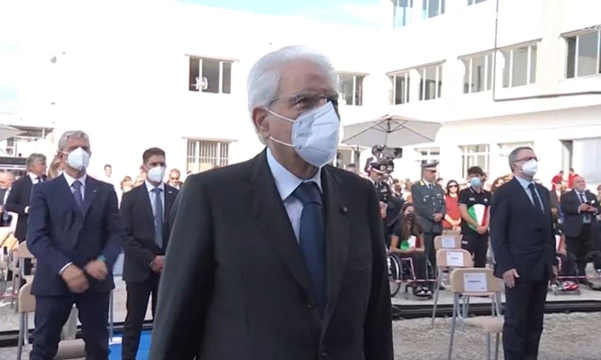 Il presidente Mattarella è arrivato a Pizzo per l'inaugurazione dell'anno scolastico