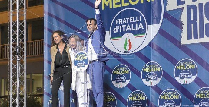 Elezioni Calabria, Meloni a Catanzaro gela Spirlì: «Vicepresidenza si decide dopo il voto»