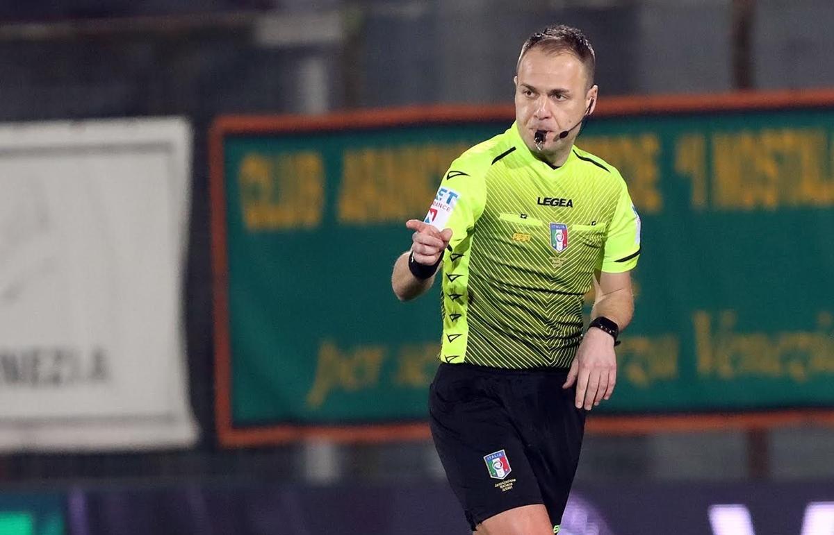 Pordenone-Reggina, arbitra Francesco Meraviglia di Pistoia