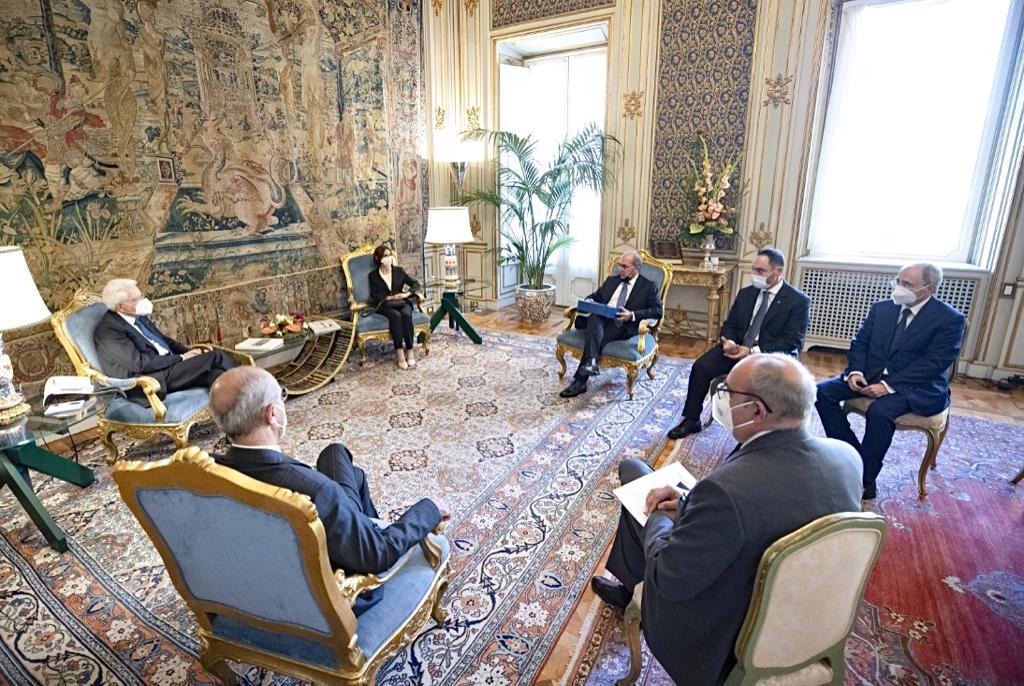Il Giurista reggino D'Amico accolto al Quirinale dal Presidente della Repubblica Mattarella