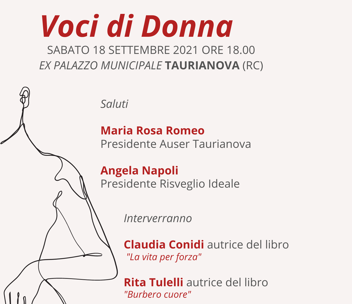 """Taurianova, sabato l'incontro """"Voci di donna"""" sulla violenza di genere"""