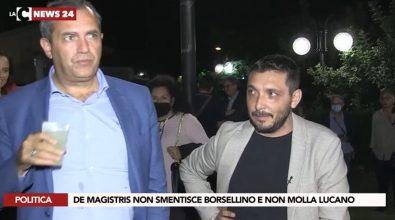 Elezioni regionali, de Magistris all'attacco di Conte: «Bugiardo». E fa outing su Lucano: «Uomo giusto»