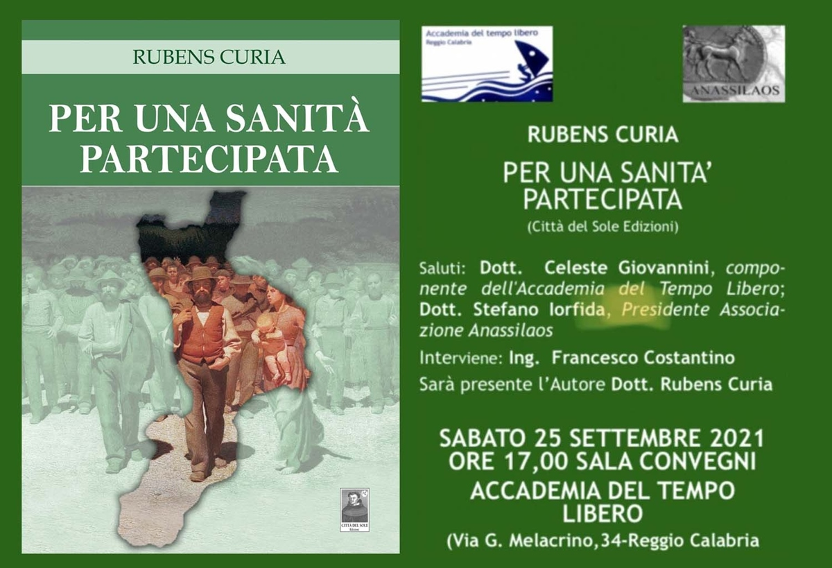 """Al Cipresseto, il libro di Rubens Curia """"Per una sanità partecipata"""""""