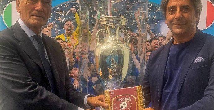Reggina, omaggio del club al Presidente FIGC Gravina