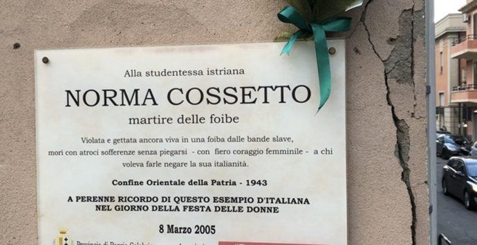 Area Griso Laboccetta, La Monica: «La targa di Norma Cossetto torni al suo posto»