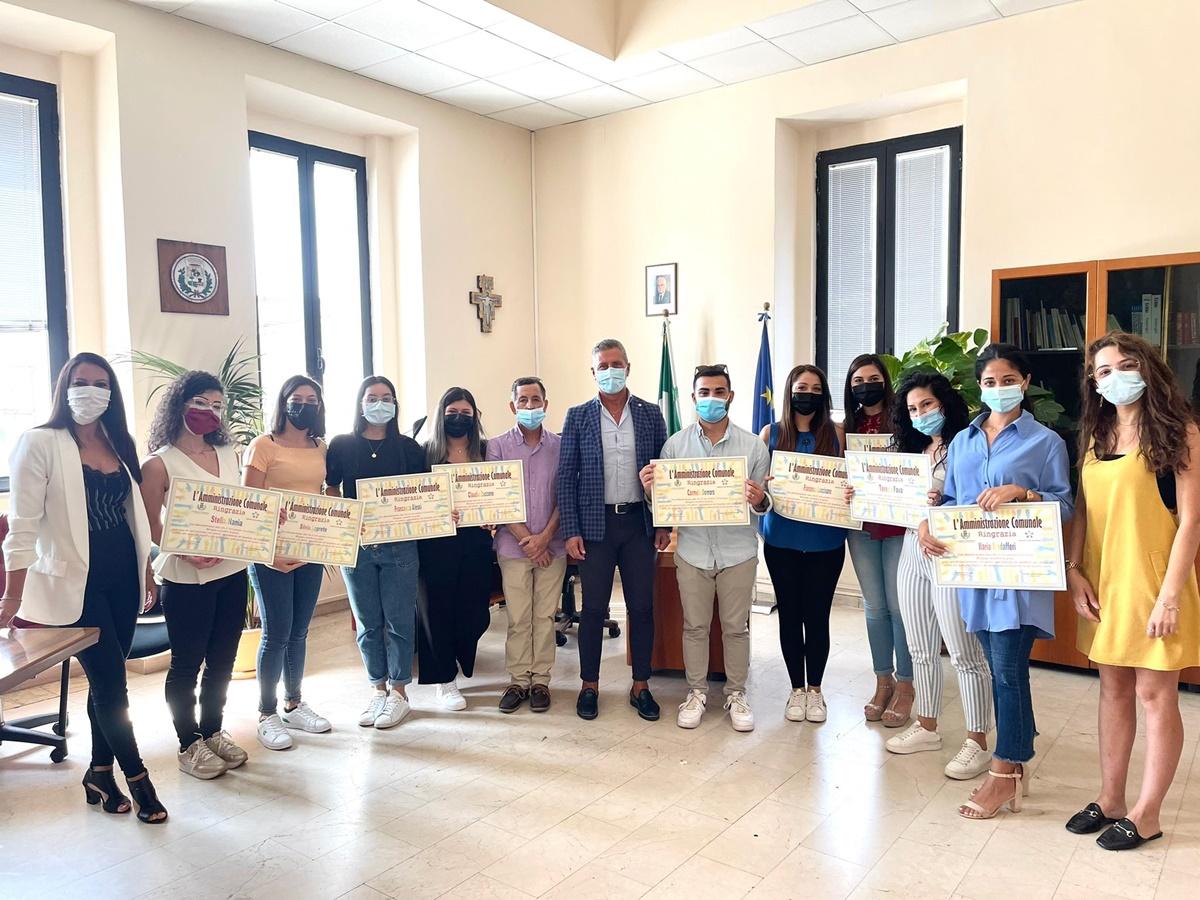 Taurianova, un attestato per ringraziare i ragazzi del Servizio civile