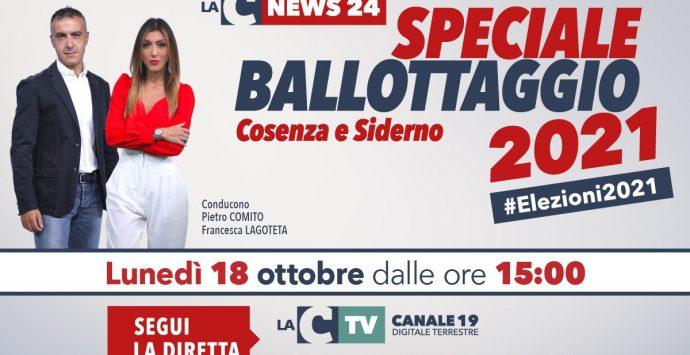 Speciale ballottaggio Cosenza e Siderno, i risultati e gli aggiornamenti nella maratona di LaC Tv