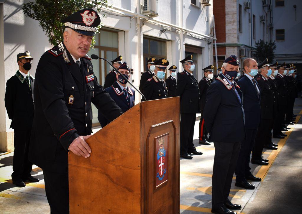 Reggio, il generale dei carabinieri Salsano visita il Comando Provinciale e la Metrocity
