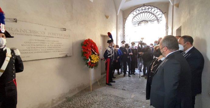 Locri, 16 anni fa l'omicidio di Franco Fortugno. Momento di raccoglimento a Palazzo Nieddu