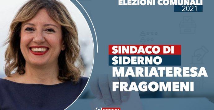 Siderno, Mariateresa Fragomeni è il nuovo sindaco  GUARDA LA DIRETTA