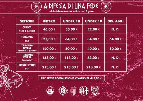 Reggina, arriva il mini-abbonamento: dal Cittadella al Brescia. Info e prezzi